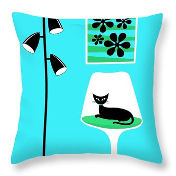Mini Groovy Flowers 2 Throw Pillow by Donna Mibus