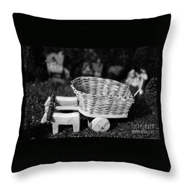 Miniature Oxen-cart Throw Pillow by Gaspar Avila