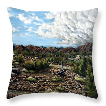 Mining Nevada Throw Pillow by Julie Townsend