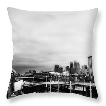 Minneapolis From The University Of Minnesota Throw Pillow by Tom Gort