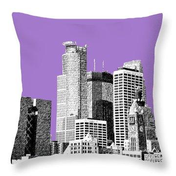 Minneapolis Skyline - Violet  Throw Pillow by DB Artist