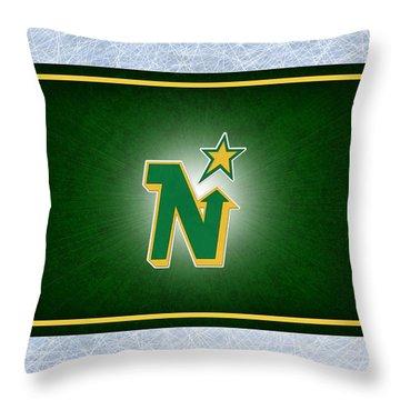 Minnesota North Stars Throw Pillow by Joe Hamilton