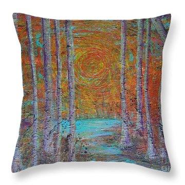 Minnesota Sunset Throw Pillow by Jacqueline Athmann