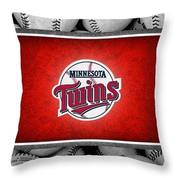 Minnesota Twins Throw Pillow by Joe Hamilton