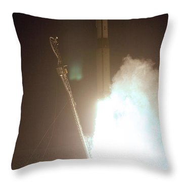 Minotaur Rocket Launch Throw Pillow by Science Source