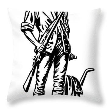 Minutemen Throw Pillow by Granger