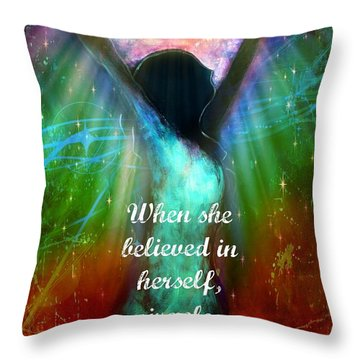 Miracles Happen Throw Pillow by Tara Catalano