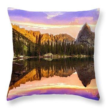 Mirror Lake Yosemite National Park Throw Pillow by Bob and Nadine Johnston