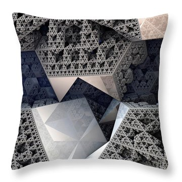 Mirrored Panels Throw Pillow by Kevin Trow
