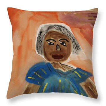 Miss Mary Franklin Throw Pillow by Mary Carol Williams