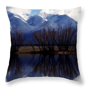 Mission Mountains Mission Valley Throw Pillow by Thomas R Fletcher
