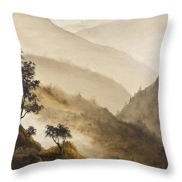 Misty Hills Throw Pillow by Darice Machel McGuire