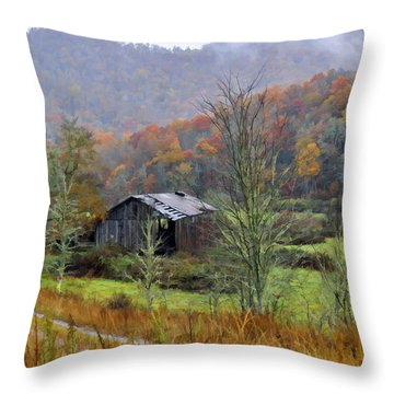 Misty Morn Throw Pillow by Kenny Francis