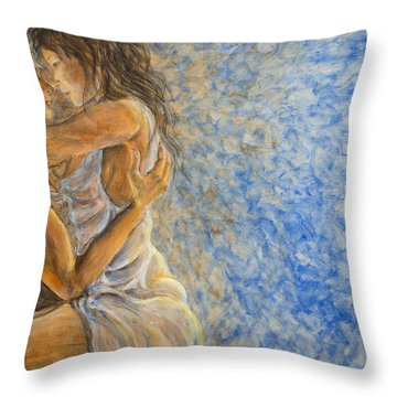 Misty Romance Throw Pillow by Nik Helbig
