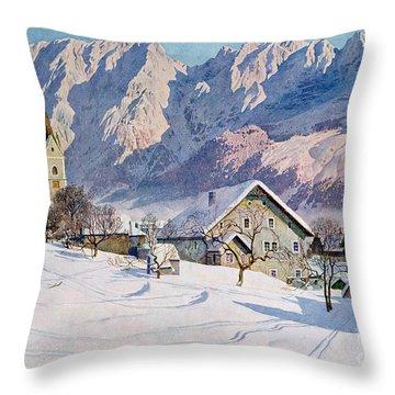 Mitterndorf In Austria Throw Pillow by Gustave Jahn