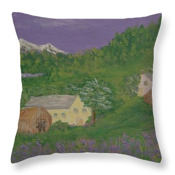 Mittersill  Austria Throw Pillow by Inge Lewis