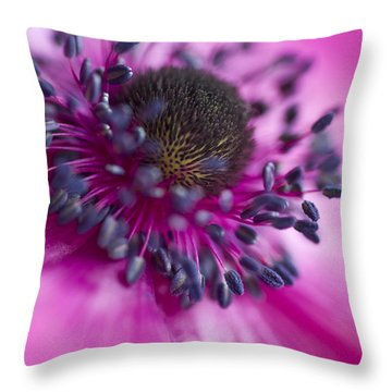 Mixed Emotions Throw Pillow by Jan Bickerton