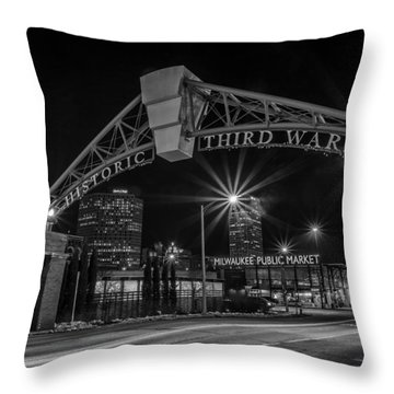 Mke Third Ward Throw Pillow by CJ Schmit