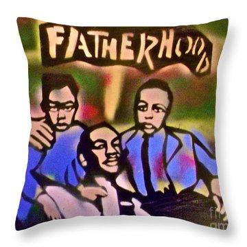 Mlk Fatherhood 2 Throw Pillow by Tony B Conscious