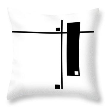 Moda 6 - Modern Art By Sharon Cummings Throw Pillow by Sharon Cummings