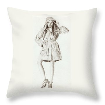 Model 2 Throw Pillow by Nur Adlina