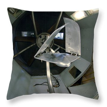 Throw Pillow featuring the photograph Model Airplane In Wind Tunnel by Science Source