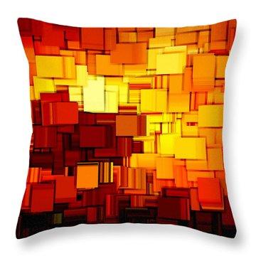 Modern Abstract Xi Throw Pillow by Lourry Legarde