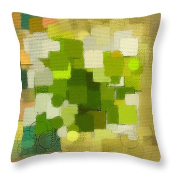 Modern Abstract Xxxv Throw Pillow by Lourry Legarde