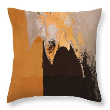 Modern From Classic Art Portrait - 01 Throw Pillow by Variance Collections