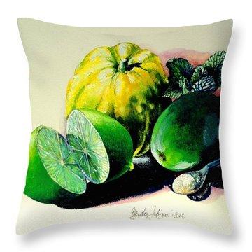 Mojito N.2 Throw Pillow by Alessandra Andrisani