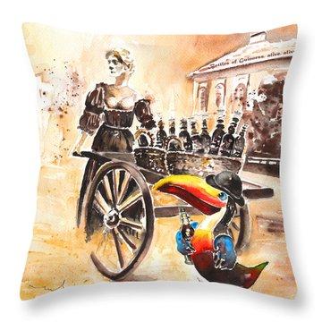 Molly Malone Throw Pillow by Miki De Goodaboom