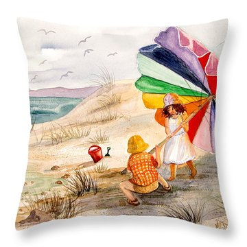 Moments To Remember Throw Pillow by Marilyn Smith