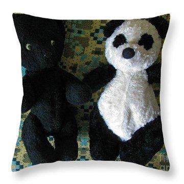 Momma Told Us We Are Brothers Throw Pillow by Ausra Huntington nee Paulauskaite