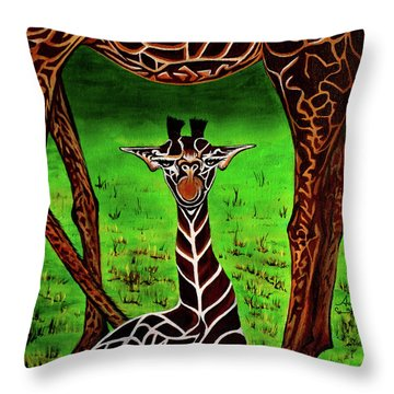 Momma's Boy Throw Pillow by Adele Moscaritolo