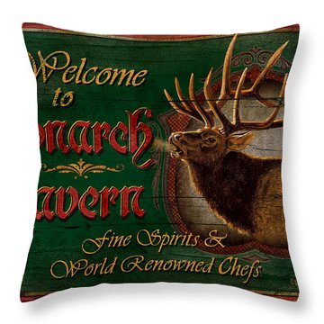 Monarch Tavern Throw Pillow by JQ Licensing