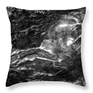 Monochrome Sea Throw Pillow by  Onyonet  Photo Studios