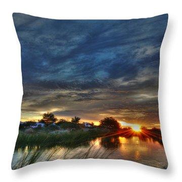 Monsoon Sunset Throw Pillow by Tam Ryan