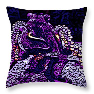 Monster Of The Deep Throw Pillow by George Pedro