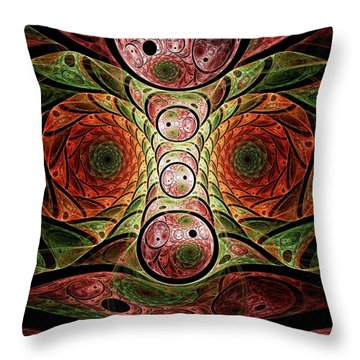 Monster Under The Bed Throw Pillow by Anastasiya Malakhova
