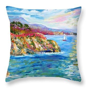 Monterey California Spring Throw Pillow by Karen Tarlton