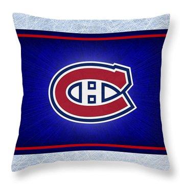 Montreal Canadiens Throw Pillow by Joe Hamilton
