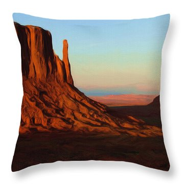 Monument Valley 2 Throw Pillow by Ayse Deniz