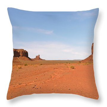 Monument Valley Navajo Tribal Park Throw Pillow by Christine Till