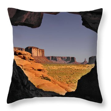 Monument Valley - The Untamed West Throw Pillow by Christine Till