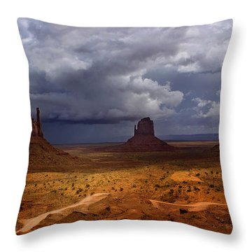 Monuments Of The West Throw Pillow by Ellen Heaverlo