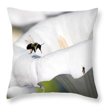 Moon Flower 3 Throw Pillow by Thomas Woolworth