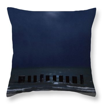 Moon Over Waters Throw Pillow by Margie Hurwich