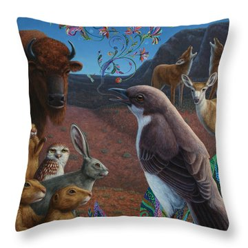 Moonlight Cantata Throw Pillow by James W Johnson