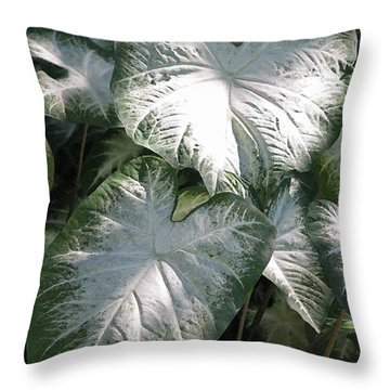 Moonlight Garden II Throw Pillow by Suzanne Gaff