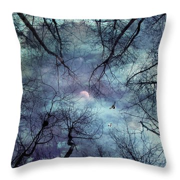 Moonlight Throw Pillow by Stelios Kleanthous